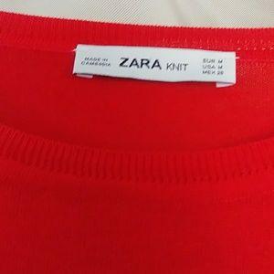 Zara Sweaters - Red Zara Knit Pullover Top